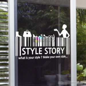 Custom Made Print Shop/Home Decorative Self Adhesive Glass Sticker pictures & photos