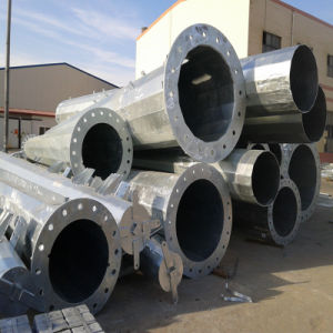Hot DIP Galvanized Steel Pipe with Welded Flange for Power pictures & photos