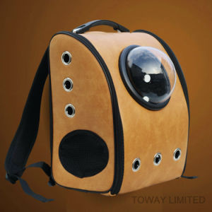 Mesh Space Shoulder Outdoor PU Carriers Dog Outdoor Bags pictures & photos