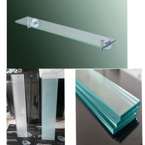 6′′x24′′ Rectangle 3/8′′ Clear Tempered Glass Shelf pictures & photos