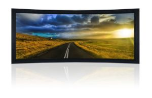 Curved Cinemascope Fixed Projector Screen in 16: 9 Format pictures & photos