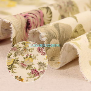 Queen Flower Patterns 250GSM Sofa Textile Canvas Fabric pictures & photos