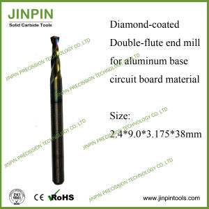 Diamond Coated 2-Flute End Mill for Aluminum Backed Pcbmaterial pictures & photos