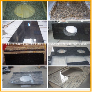 Grey/White/Black/Beige/Green Colors Solid Surface Artificial Quartz Stone Vanity Tops pictures & photos
