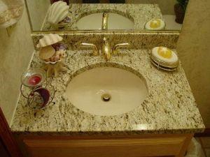 Beige Granite Vanity Top 4 pictures & photos