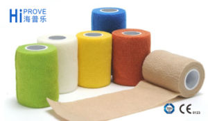 100% Cotton Elastic Medical Self Adhesive Bandage pictures & photos