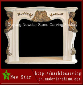 Popular Sale Marble Stone Carving Fire Place (NS-1206) pictures & photos