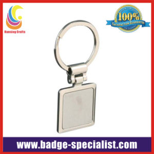 Square Blank Zinc Alloy Keychain/Key Ring (HS-KC051)