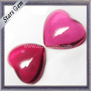 High Quality Heart Shape Cabochon 5#Ruby pictures & photos