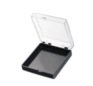 Square Plastic Box with Clear Lid and Velveted Insert pictures & photos
