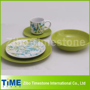 Stoneware Colorful Dinner Set with Decal pictures & photos