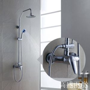 2017 New Design Chinese Blue-and-White Ceramic Single Handle GS-064 Brass Rain Shower Set pictures & photos