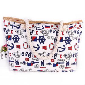 Canvas National Wind Ladies Shoulder Bag Trend Ladies Beach Bag pictures & photos