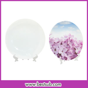 Bestsub 7.5'' Sublimation Personalized Glass Plate (BLP08)
