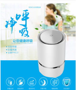 USB Negative Ion Desktop Air Purifier with HEPA pictures & photos
