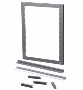Industrial Carbon Steel Wall Mount 24X24 Electrical Enclosure Swing Frame with Adjustable Holes pictures & photos