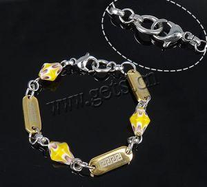 Lampwork Stainless Steel Bracelet, Fashion Jewelry (111012233115)