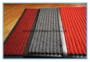 Decorative, Commercial, Hotel, Outdoor Use and Stripe Style Polyester Surface Carpet with PVC Backing pictures & photos