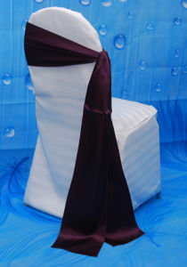 Factory Price Wedding Chair Cover Satin Sash pictures & photos