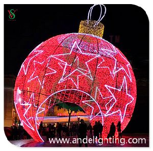 Huge Ball Decoration Light Christmas 3D Motif Light pictures & photos