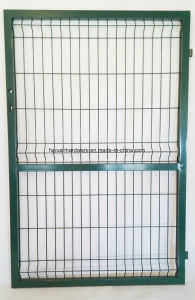 Steel Tube Frame Wire Mesh Weld Metal Garden Gate pictures & photos