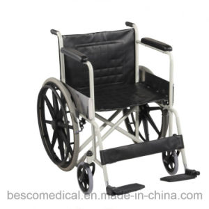 Dual Axle Powder Coated Folding Mag Wheelchair/Wheel Chair