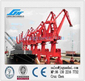 10t30m Hydraulic Marine Wharf Portal Crane pictures & photos