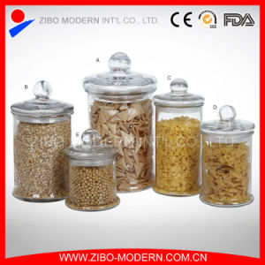 Clear Canning Jars Cylinder Glass Jar with Lid Custom Canister Wholesale Glass Jars for Food pictures & photos