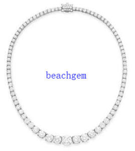 Luxury CZ 925 Sterling Silver Necklace (YN1021)