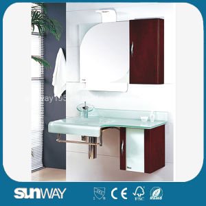 Modern Glass Basin with PVC Side Cabinet Tempered Glass Bathroom Basin pictures & photos