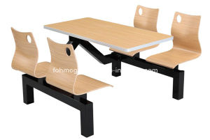 One Table Four Chairs Banquet Seating Table (FOH-CBC01) pictures & photos