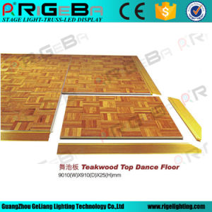 Factory Manufacture Directly Cheap Portable Teak Wood Dance Floor pictures & photos