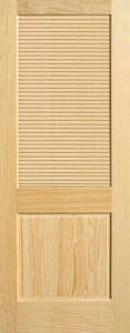 Louver Pine Wood Timber Door