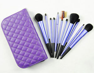 11 PCS Cosmetic Facial Make up Brush Kit with Zip Case