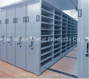 Hand Wheel Operated Mobile Lockable Metal Book Shelves pictures & photos