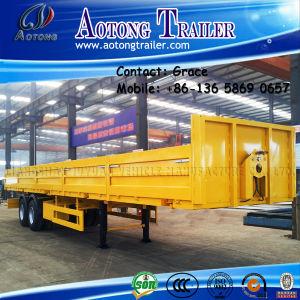 Tri-Axle 60 Ton Cargo Trailer, Side Board Semitrailer, Side Boards Flatbed Semi Trailer, Flatbed with Side Wall, Sidewall Semi Trailer pictures & photos