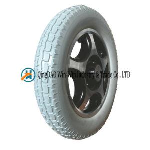 PU Foam Wheel, Spoke Wheel, Electric Wheelchair Wheel Solid Wheel 13*2.5 pictures & photos