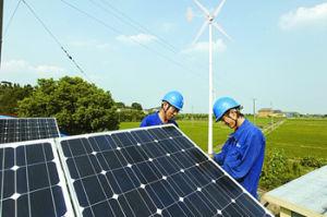 5000W Wind Generator with Solar Panel