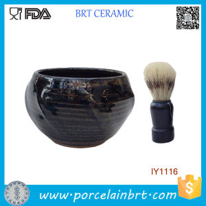 Wholesale Deep Blue Masculine Ceramic Shaving Bowl pictures & photos