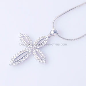 New Design Cross Pendant with Good Quality Cubic Zirconia Stone