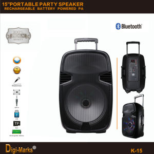 PA Mini Trolley Active Wireless Portable Mobile Bluetooth DJ Speaker pictures & photos