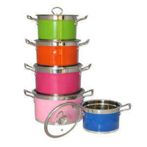 2015 Colorful Stainless Steel Soup Pot pictures & photos