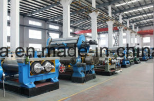 High Quality Hard Surface Gear Reducer Two Roll Rubber Open Mixing Mill pictures & photos