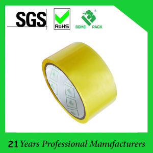 BOPP Yellowish Packaging Tape with No Bubble pictures & photos