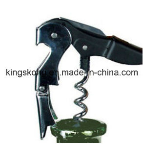 Iron Corkscrew Bottle Opener Double Reach Black pictures & photos