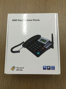 Dual SIM Card GSM Fixed Wireless Desktop Phone pictures & photos
