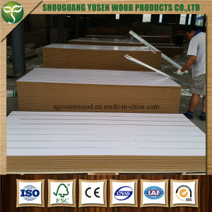 Melamine Slotted Board/Slat Wall Board pictures & photos