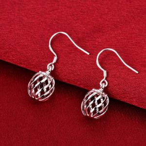 Simple Ball Shape Earrings 925 Stealing Steel Silver Jewelry Made pictures & photos
