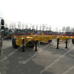 2 Axles 40feet Skeleton Semitrailer for Container Transporting pictures & photos