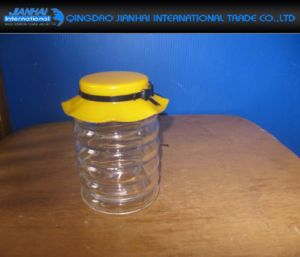 Glass Stripe Pattern Storage Container with Fancy Plastic Cap pictures & photos
